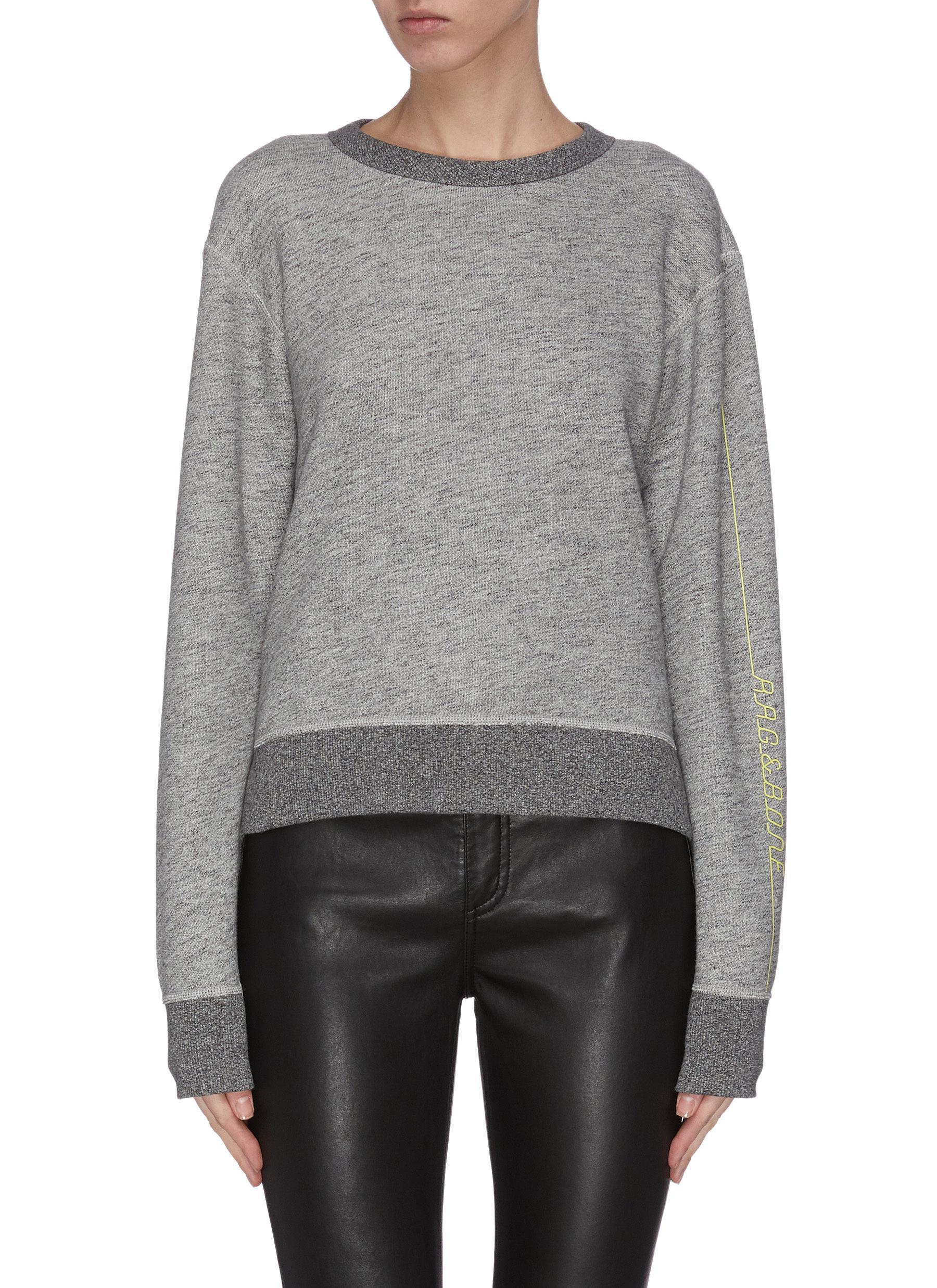 shop Rag & Bone/Jean Logo patch sweatshirt online