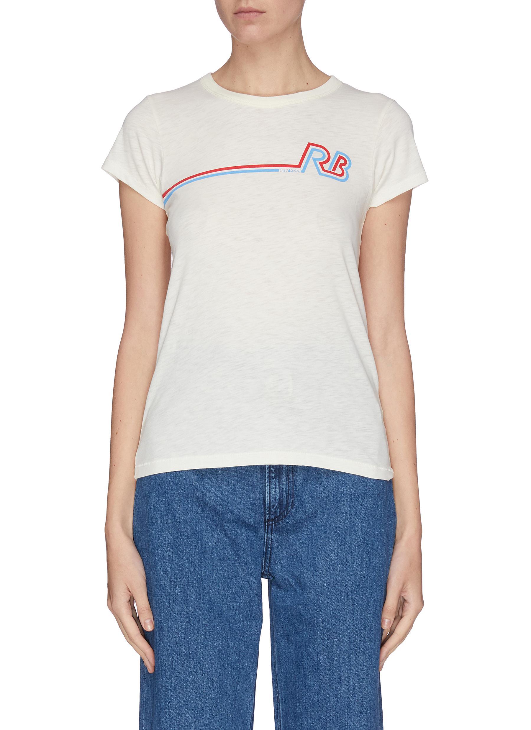 Buy Rag & Bone/Jean Tops Logo print T-shirt