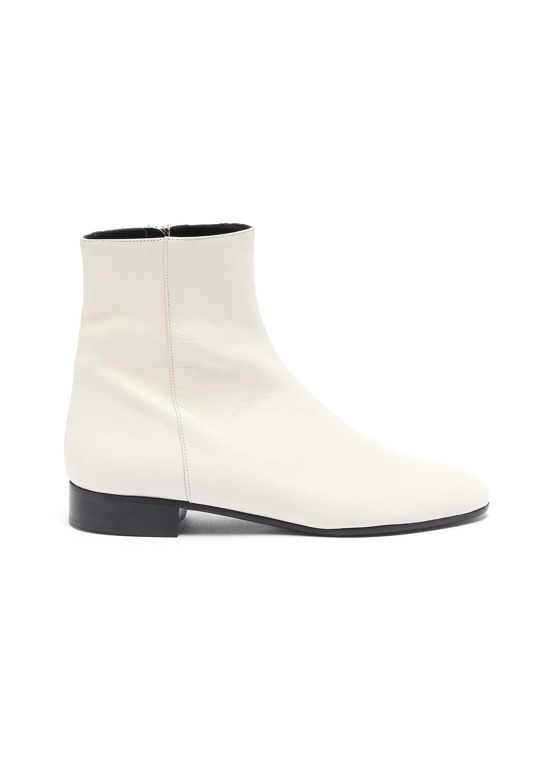Side seam leather ankle boots by Alumnae