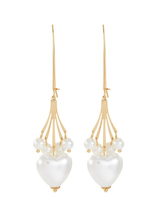 Main View - Click To Enlarge - KENNETH JAY LANE - Faux pearl heart shaped drop earrings