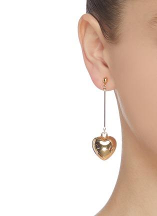 Figure View - Click To Enlarge - KENNETH JAY LANE - Heart shaped drop earrings