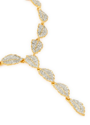 Detail View - Click To Enlarge - KENNETH JAY LANE - Leaf-shaped crystal necklace