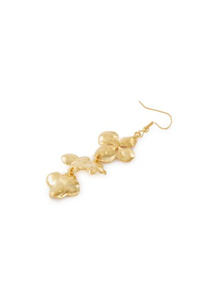 Detail View - Click To Enlarge - KENNETH JAY LANE - Flower-shaped drop fishhook earrings