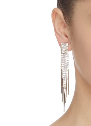 Figure View - Click To Enlarge - KENNETH JAY LANE - Glass crystal 6-strand waterfall drop earrings