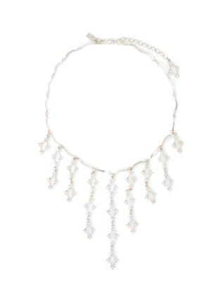 Main View - Click To Enlarge - KENNETH JAY LANE - 'Waterfall' Crystal embellished necklace