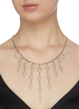 Figure View - Click To Enlarge - KENNETH JAY LANE - 'Waterfall' Crystal embellished necklace
