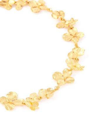 Detail View - Click To Enlarge - KENNETH JAY LANE - Flower link necklace