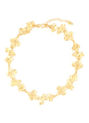Main View - Click To Enlarge - KENNETH JAY LANE - Flower link necklace