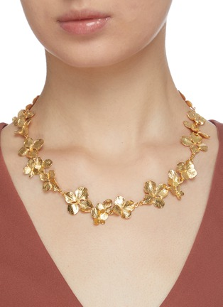 Figure View - Click To Enlarge - KENNETH JAY LANE - Flower link necklace
