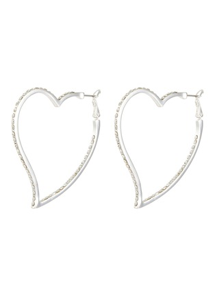 Main View - Click To Enlarge - KENNETH JAY LANE - Glass crystal heart shaped hoop earrings