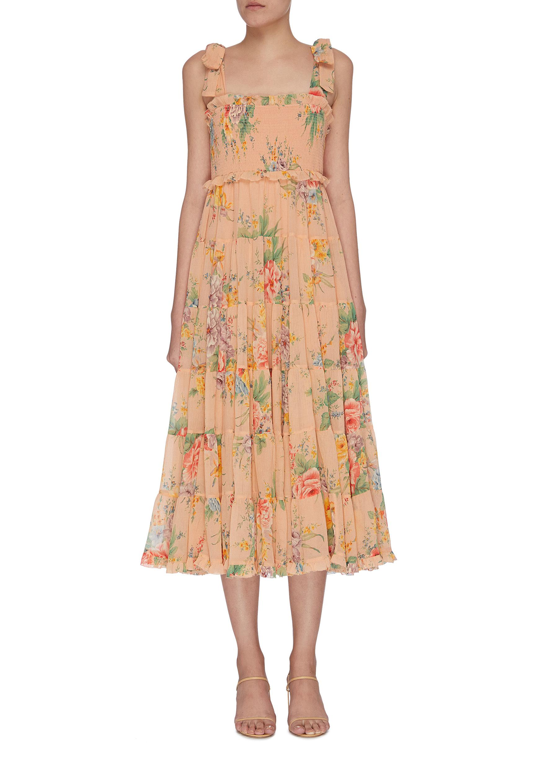 shop Zimmermann 'Zinnia' tiered floral print sundress online
