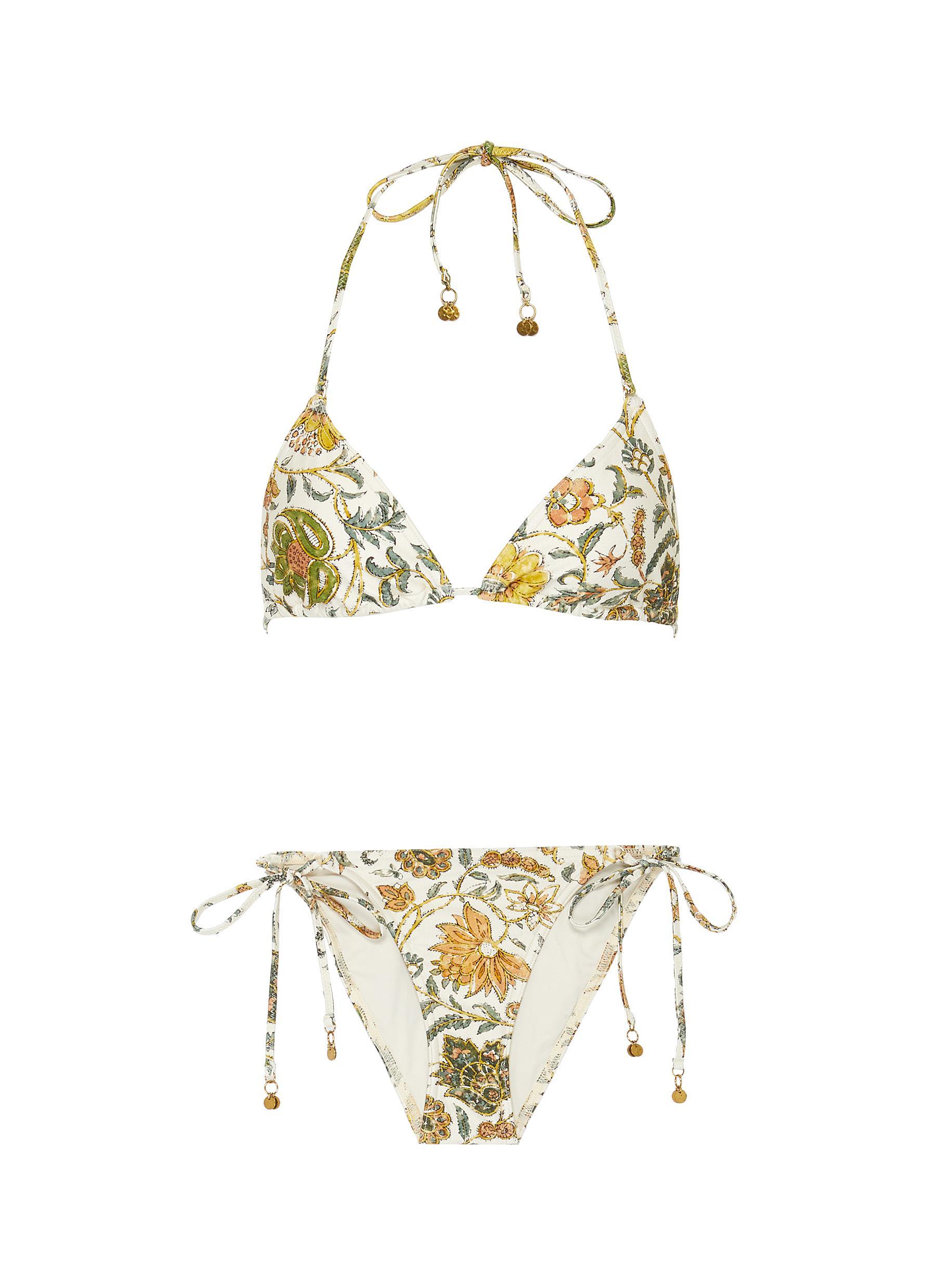 shop Zimmermann 'Edie' floral print bikini online