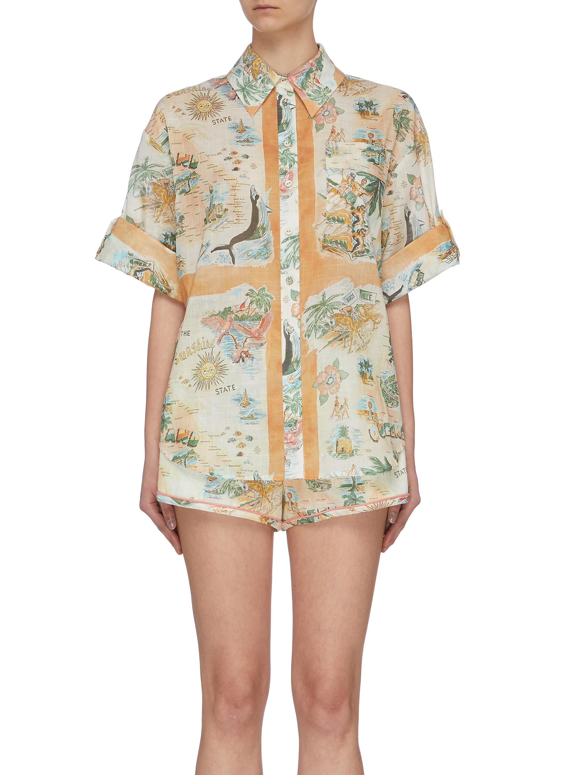 Buy Zimmermann Tops 'Kirra' graphic print shirt