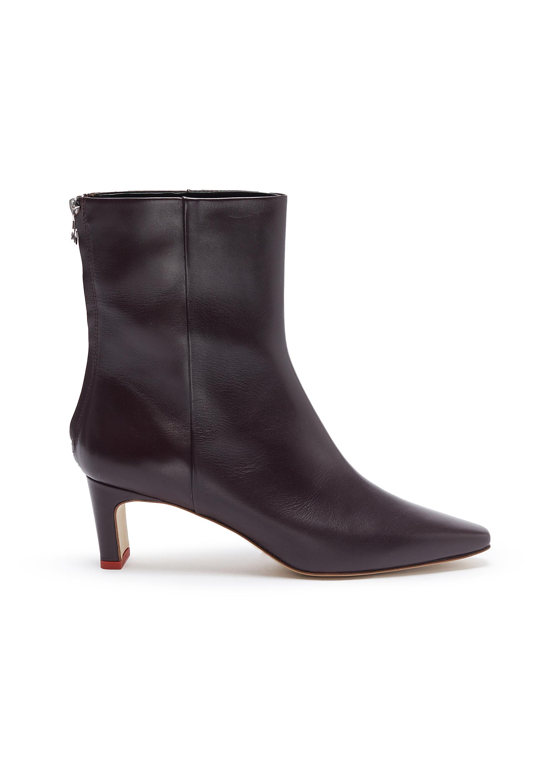shop Aeyde 'Ivy' thin block heel calfskin leather ankle boots online