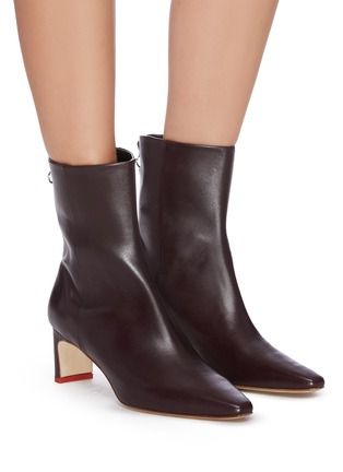 Figure View - Click To Enlarge - AEYDE - 'Ivy' thin block heel calfskin leather ankle boots