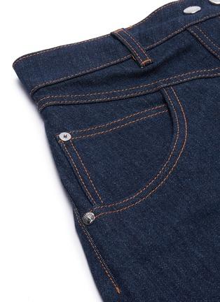 - ELLERY - 'Traffic' contrast stitch denim midi skirt