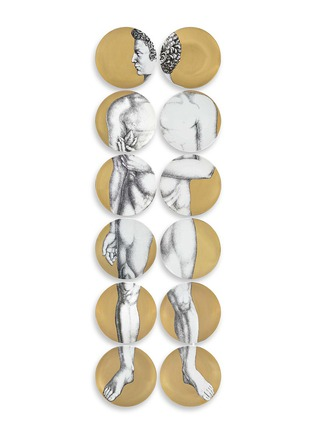 Main View - Click To Enlarge - Fornasetti - Adamo wall plate set