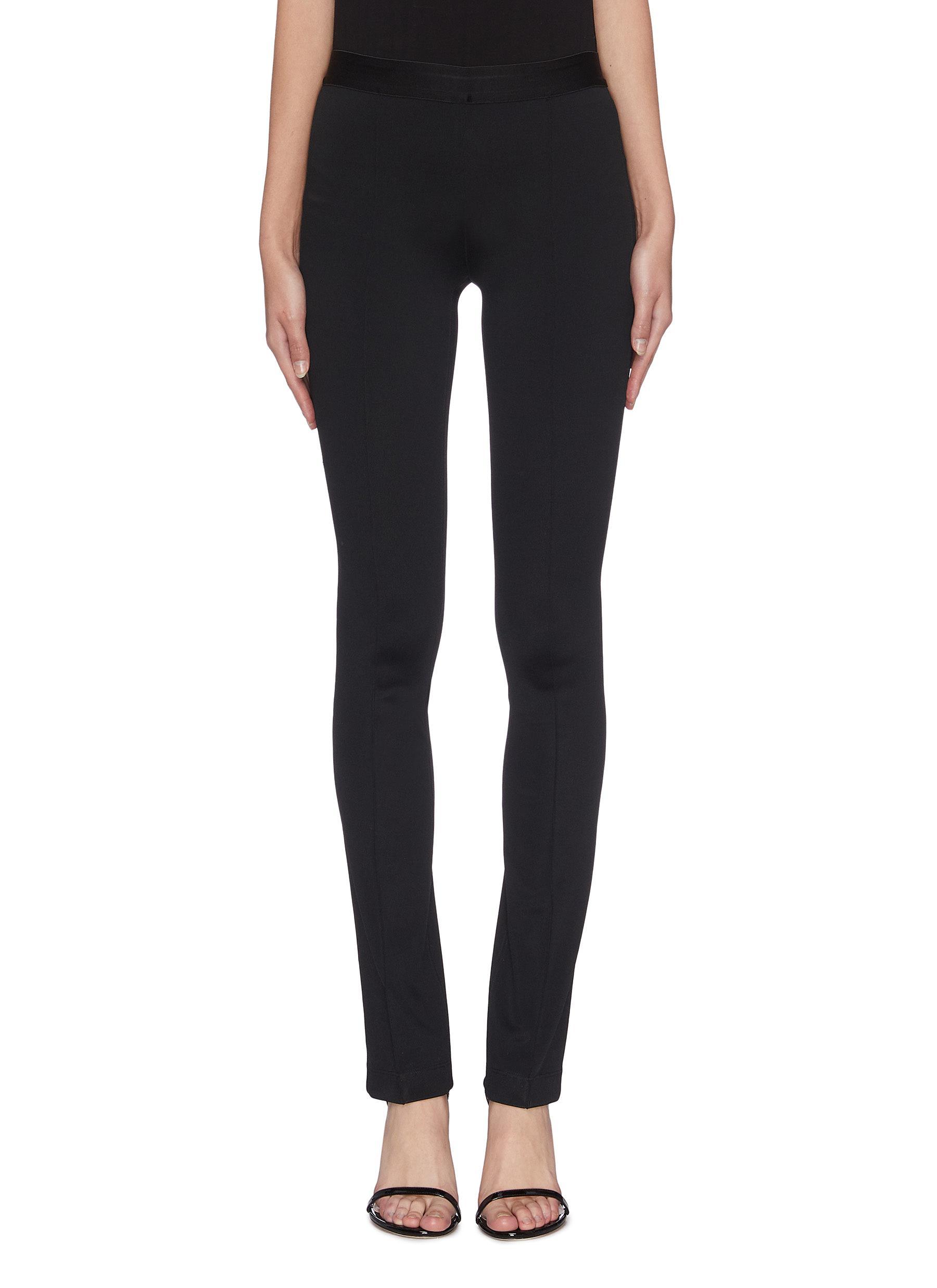 Buy Helmut Lang Pants & Shorts Elastic waistband flared leggings