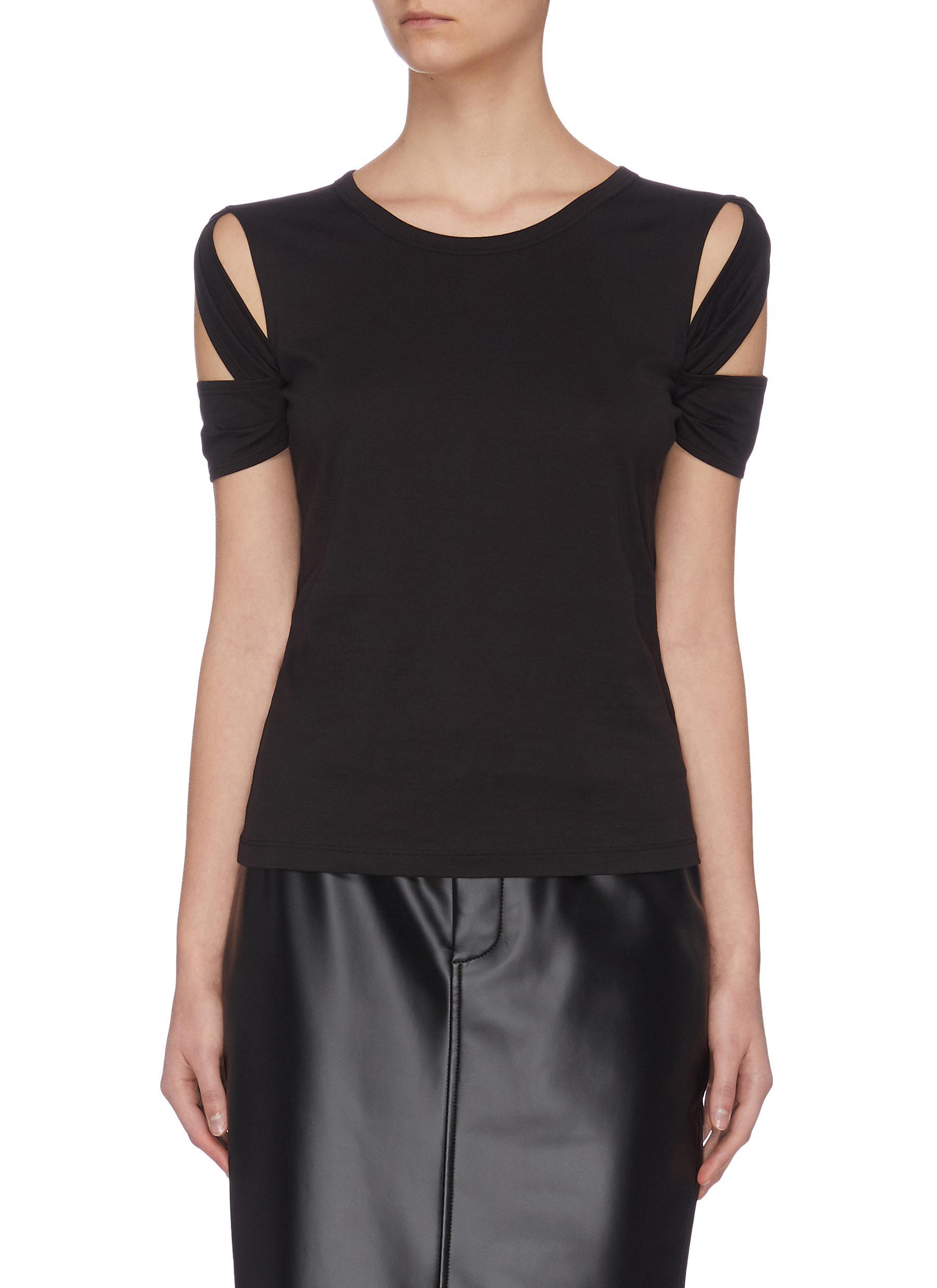 shop Helmut Lang Bondage sleeve pima cotton T-shirt online