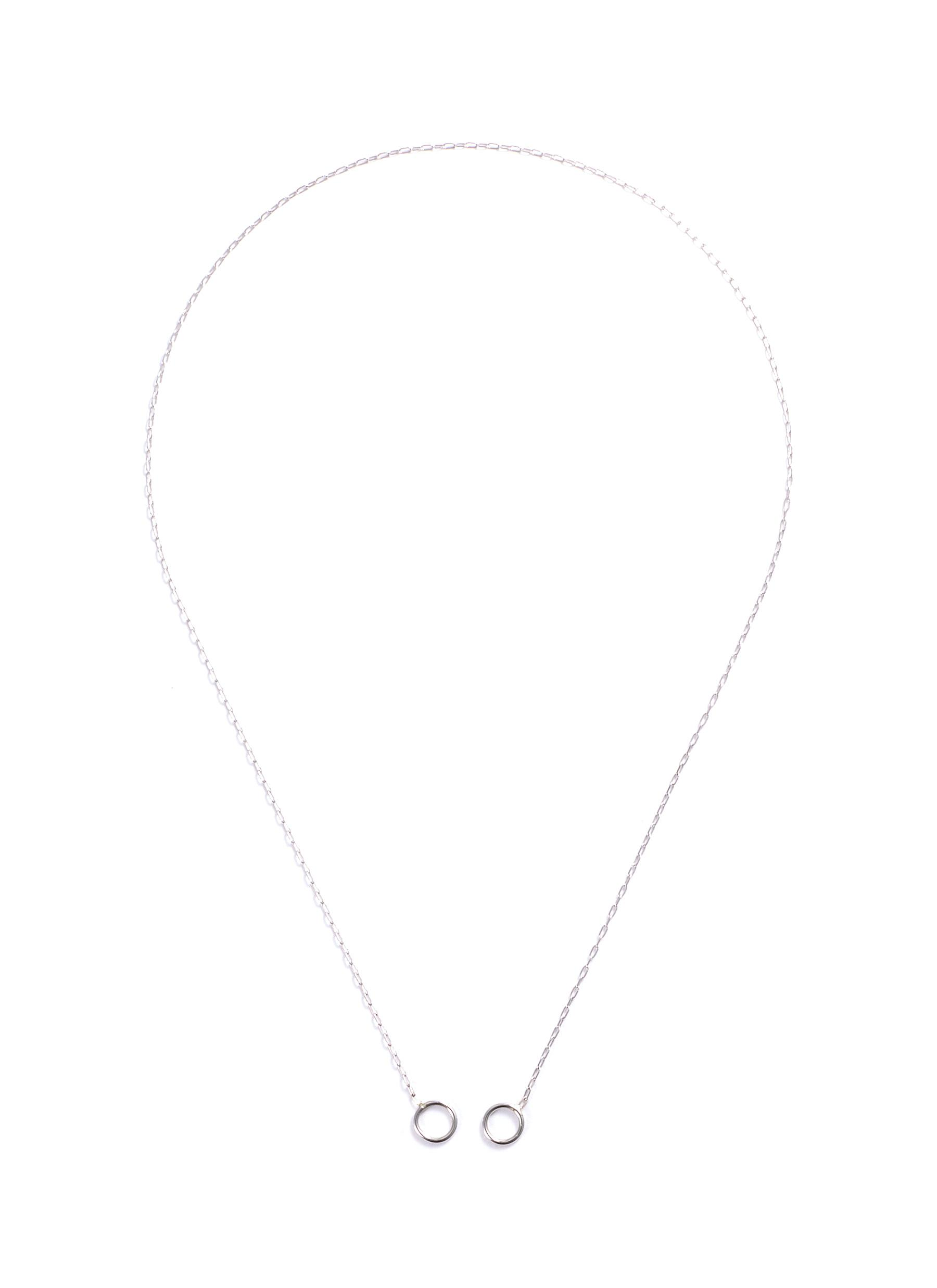 2 loop 14k white gold square link chain