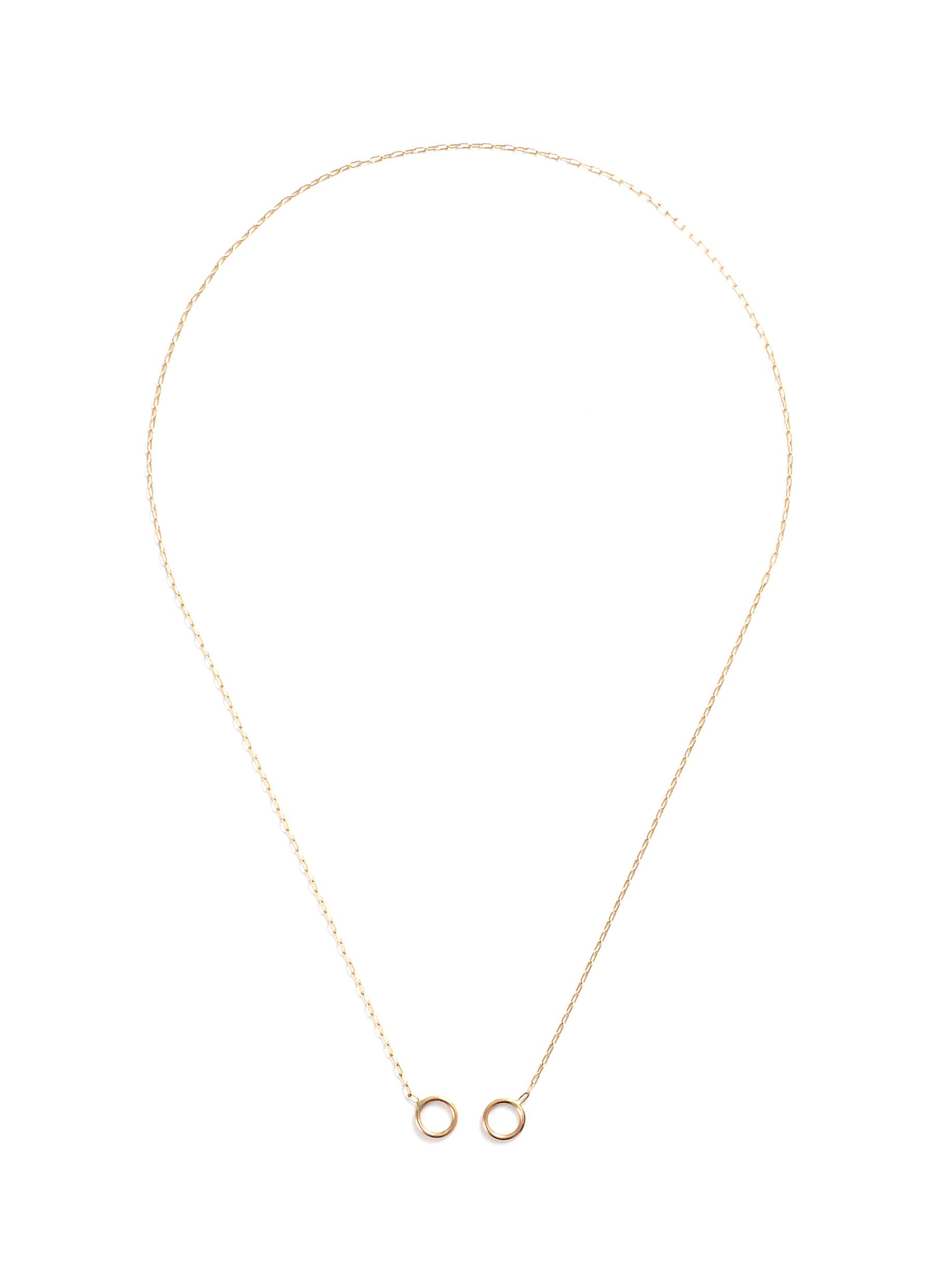 2 loop 14k yellow gold square link chain
