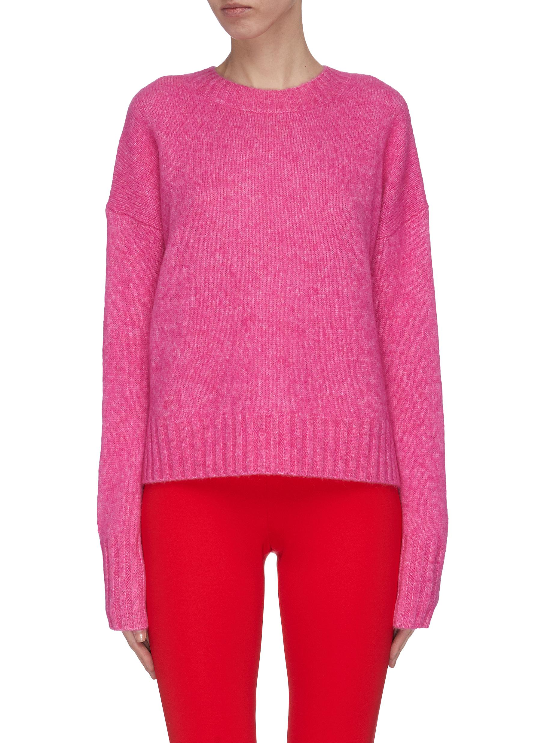 Buy Helmut Lang Knitwear Recut brushed crewneck wool knit sweater