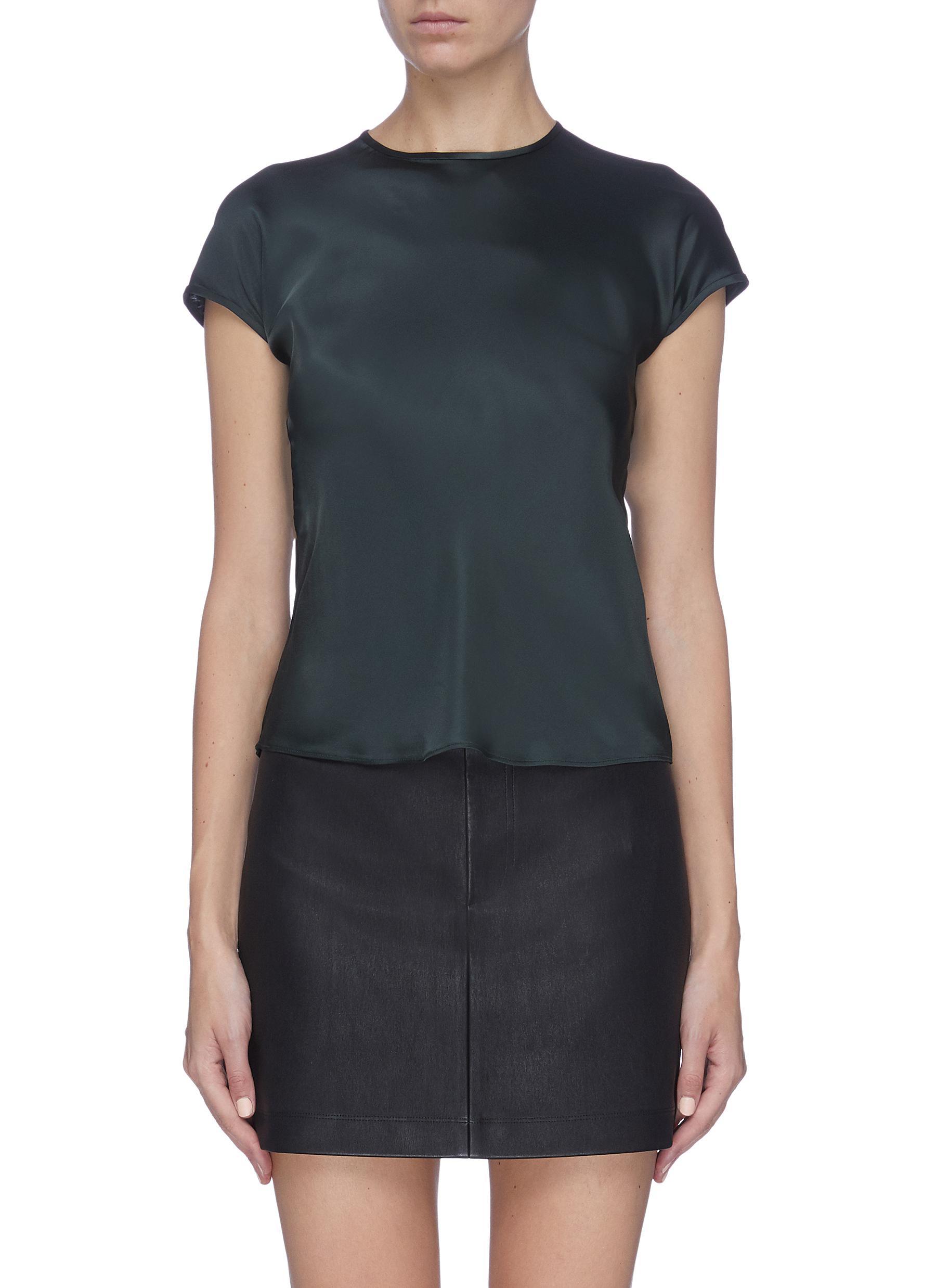 shop Helmut Lang Cap sleeve satin top online