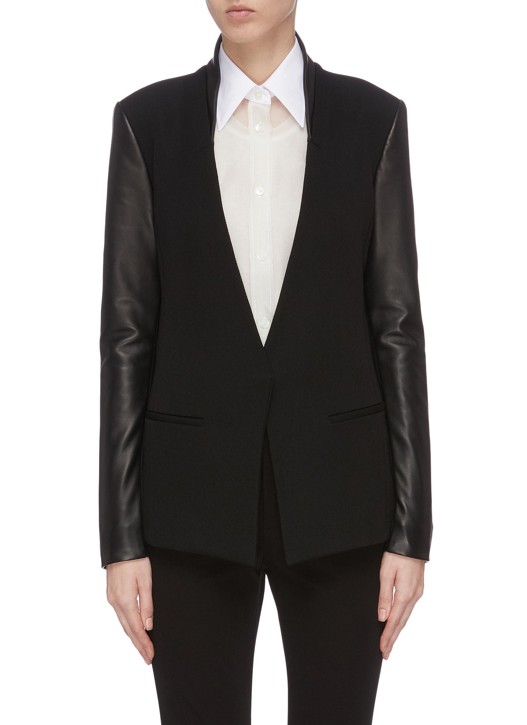 shop Helmut Lang Crux leather blazer online