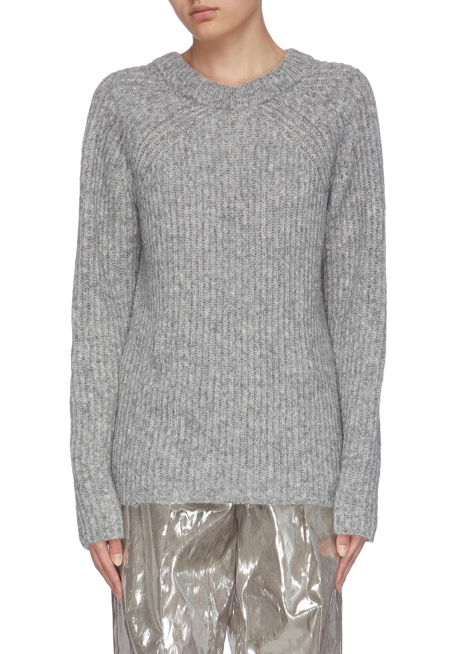 Buy Helmut Lang Knitwear 'Ghost' marl knit sweater