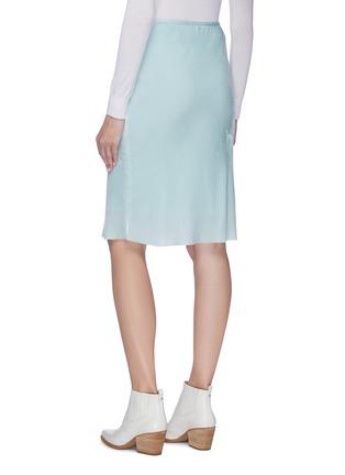 Back View - Click To Enlarge - HELMUT LANG - Velvet slip skirt