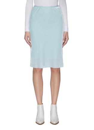Main View - Click To Enlarge - HELMUT LANG - Velvet slip skirt