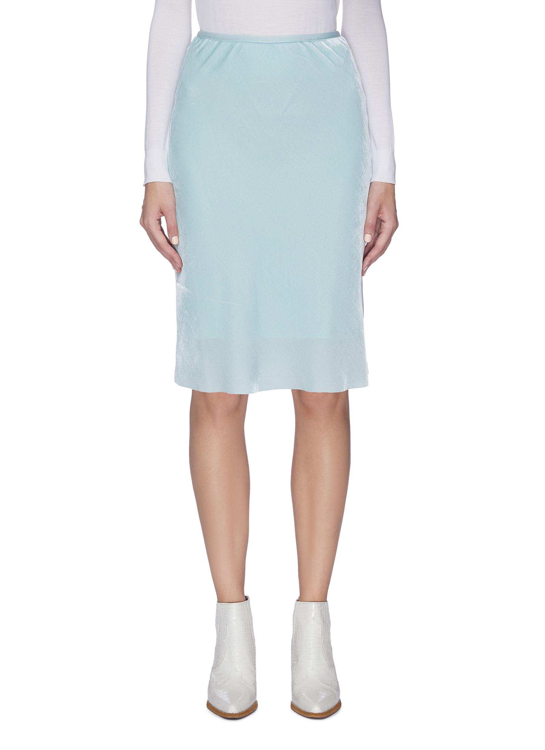 Buy Helmut Lang Skirts Velvet slip skirt
