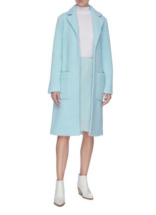 Figure View - Click To Enlarge - HELMUT LANG - Velvet slip skirt