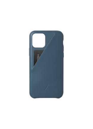 Main View - Click To Enlarge - NATIVE UNION - Clic Card iPhone 11 Pro case – Indigo