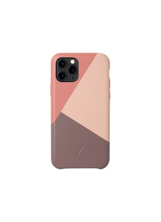 Main View - Click To Enlarge - NATIVE UNION - Clic Marquetry iPhone 11 Pro case – Rose