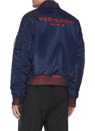 Back View - Click To Enlarge - WOOYOUNGMI - Chest tag logo embroidered bomber jacket