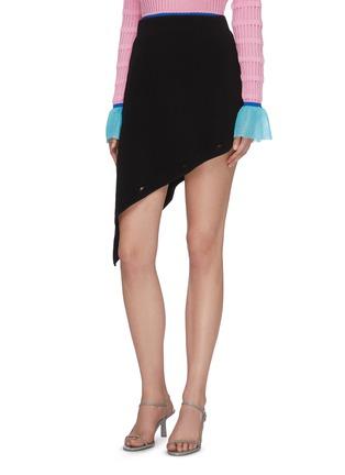 Detail View - Click To Enlarge - I-AM-CHEN - Asymmetric Detachable Midi Skirt