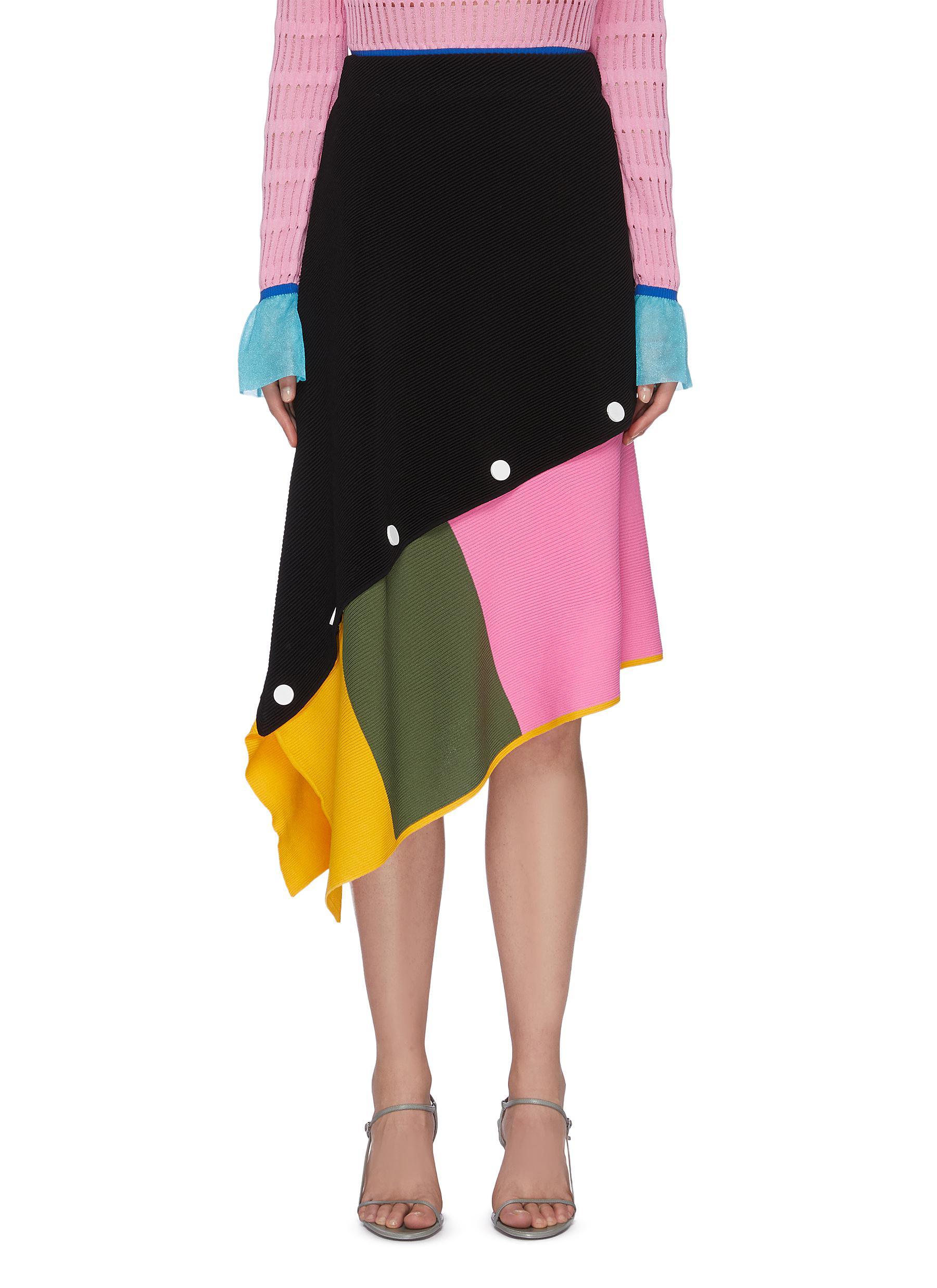 Buy I-Am-Chen Skirts Asymmetric Detachable Midi Skirt