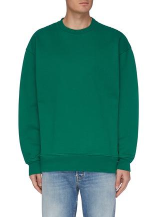 Main View - Click To Enlarge - ACNE STUDIOS - Crewneck cotton blend sweatshirt