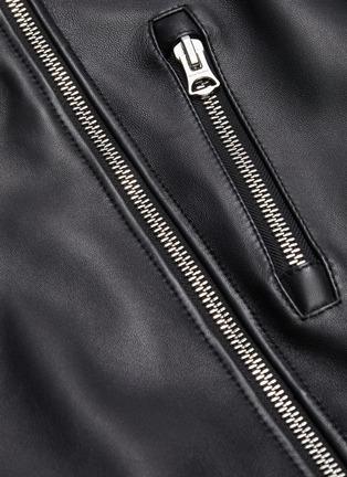 - ACNE STUDIOS - Asymmetric belt leather jacket