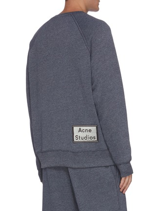 Back View - Click To Enlarge - ACNE STUDIOS - Back patch label sweatshirt