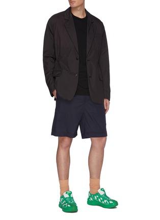 Figure View - Click To Enlarge - ACNE STUDIOS - Elastic waistband nylon shorts