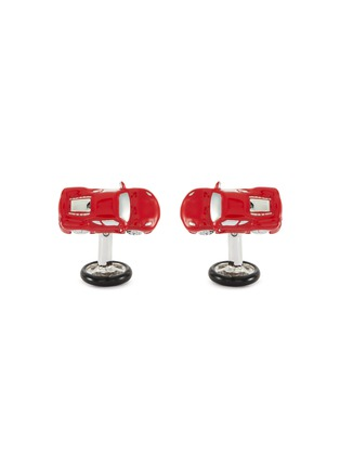 Main View - Click To Enlarge - BABETTE WASSERMAN - Sports car and steering wheel cufflinks