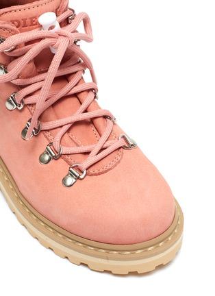 Detail View - Click To Enlarge - DIEMME - 'Roccia Viet' nubuck leather kids hiking boots