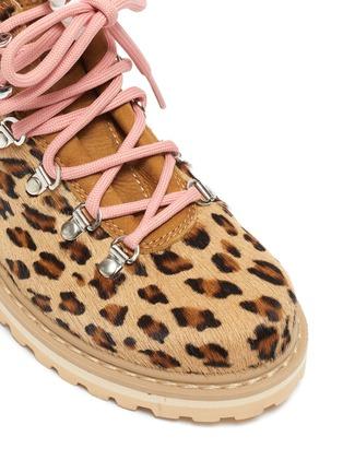 Detail View - Click To Enlarge - DIEMME - 'Roccia Viet' leopard print calfhair kids hiking boots