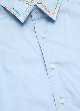 - KOLOR - Embroidered Collar Shirt