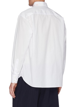 Back View - Click To Enlarge - KOLOR - Embroidered Collar Shirt