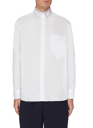 Main View - Click To Enlarge - KOLOR - Embroidered Collar Shirt