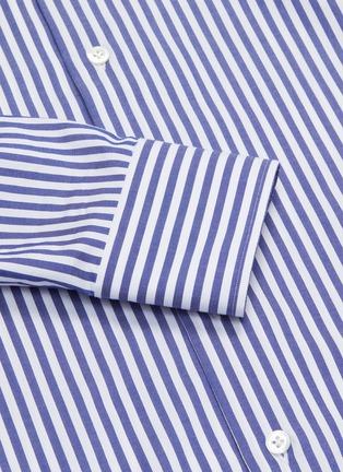 - LARDINI - Point collar stripe cotton shirt