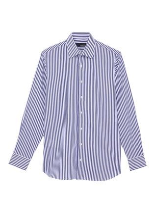 Main View - Click To Enlarge - LARDINI - Point collar stripe cotton shirt